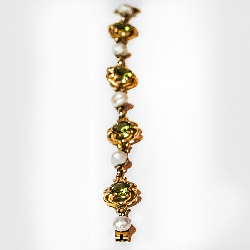 Gold and Green Bracelet