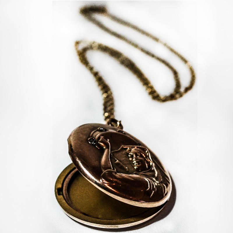 Gold Locket on Chain