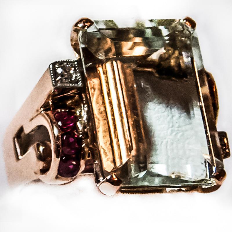Gold Rectangular Ring