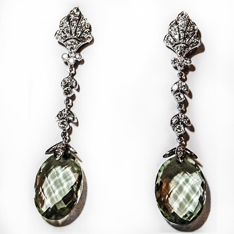 Long Hanging Silver Earrings